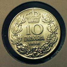 YUGOSLAVIA COIN- 10 DINARA 1938- NICKEL- NICE COIN !!!