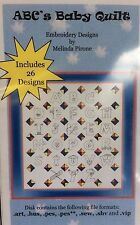 SEW PRECIOUS CREATIONS-ABC'S BABY QUILT W/ INSTRUCTIONS & MACHINE EMBROIDERY CD