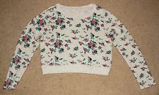 Forever 21 Floral Long sleeve Sweater Crop top Size Large