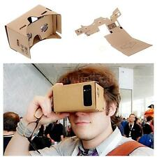 New Cardboard 3D VR Virtual Reality Google Headset Movie Games Glasses for Phone