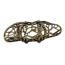 vintage Art Deco retro style bronze cutout knuckle ring