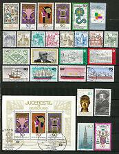 Bundespost jaargang 1977 gebruikt (2) zonder de C en D nummers