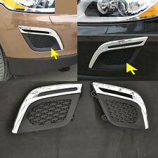 Chrome Front Bumper Fog Light lamp cover trims 2p for VOLVO XC60 2010 2011 2012