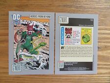 1991 DC COSMIC GREEN LANTERN G'NORT CARD SIGNED JOE STATON ART, WITH POA