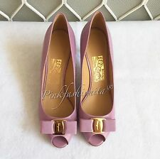 Salvatore Ferragamo Pola Women's shoes Lilac Purple Pump Heel 7 cm size 7.5