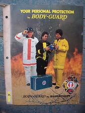 HTF Rare Vintage Body guard by Survivair Fireman Accessories Booklet