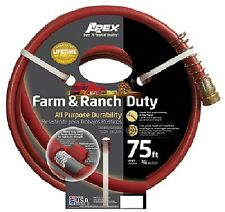 (1) NEW TEKNOR-APEX FARM RANCH GARDEN WATERING HOSE 3/4 x 75 ACREAGE - 989-75