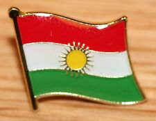 KURDISTAN Flag Country Metal Lapel Pin Badge Kurds Kurdish