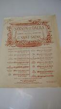 SAINT-SAËNS : SAMSON et DALILA partitions piano