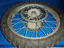 HONDA CR 125 CR125 1991 REAR WHEEL AND TIRE WITH SPROCKET GOOD USED SHAPE