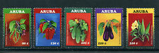 Aruba 2016 MNH Vegetables 5v Set Sweet Chili Peppers Cucumbers Plants Stamps