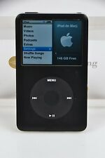 Black Apple iPod Classic 160Gb 6th Gen Perfect Hard Drive Exc Housing Flat Fedex