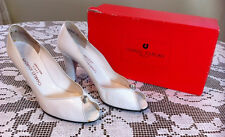 RARE CHARLES JORDAN PARIS VINTAGE WHITE LEATHER DRESS SHOES SIZE 9 1/2