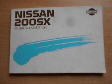 Guía del conductor Instrucciones servicio Nissan 200 SX (CA18DET)