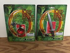 The One Ring Keychain + Sting Sword Keychain LOTR Lord of the Rings Glows! New!