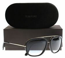 New Tom Ford Sunglasses Men TF 453 Black 01P Johnson 57mm