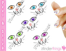 Cute Colorful Cat Eyes Nail Decal Stickers CAT902