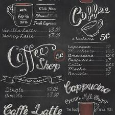 Rasch - 234602 - Vintage American USA Coffee Shop - Black/White