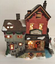 Santa's Workbench Towne Series Ludgate Hill Mill Christmas Village Light Up