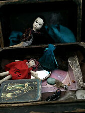 Old Witch Antique Divination Box Tarot Cards Crystal Herb Wiccan Haunted Estate