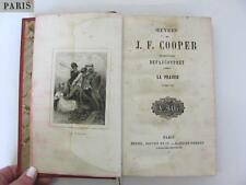 1830s ANTIQUE FRENCH HARDCOVER BOOK – THE PRAERIE BY J.F. COOPER RARE!