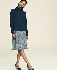 Ann Taylor - L - NWT $129 - Gray Variegated Space Dye Knit Flared A-Line Skirt