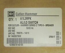 EATON CUTLER HAMMER A1L3RPK AL LO Switch for F Frame Breaker 1492D272G02
