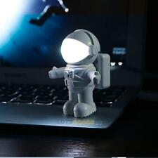 Flexible Spaceman Astronaut USB Mini LED White Night Light Lamp for Computer PC
