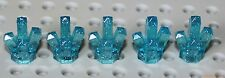 Lego Transparent Blue Sparkling Rock 1x1 Crystal 5 point 5 pieces NEW!