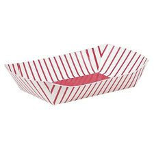 4 Paper SNACK TRAYS - Retro Fast Food/Fries/Picnic/Red & White Stripes #90689