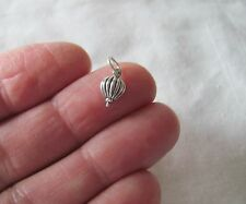 Small Sterling Silver Hot air Balloon miniature charm.