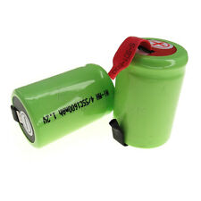 6 pcs 1600mAh NiMH 4/5 SubC Sub C 1.2V Rechargeable Battery with Tab Green