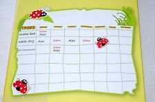 Peel & Stick Ladybug Chore Chart Dry Erase Memo Board 12x39 Marker +65 Stickers