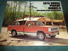1975 DODGE TRUCK SALES CATALOG / SALES BROCHURE / ORIGINAL DEALERSHIP ITEM!