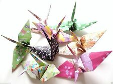 Origami Handmade Crane 8 Paper Craft Japanese Traditional Pattern Flower Sakura