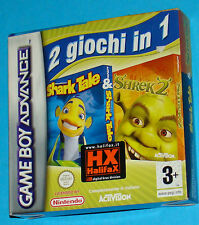 Shark Take + Shrek 2 - Game Boy Advance GBA Nintendo - PAL