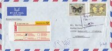 IRAQ:1999 Airmail envelope to Germany bearing  Butterflies pair perforate