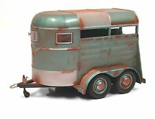 Motor City Classics 94005 1:18 Weathered Diecast Horse Trailer MIB New