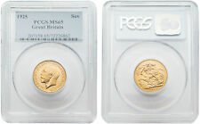 Great Britain 1925 King George V Sovereign Gold PCGS MS-65
