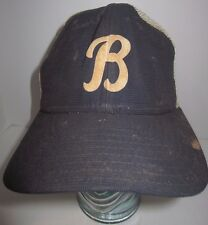 DIRTY Vintage B Logo - Hat Cap New Era Dupont Visor Medium-Large USA DISTRESSED
