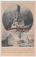 (96055) Künstler AK Niederwalddenkmal, Rüdesheim, Rhein, vor 1945