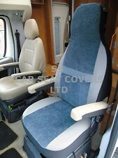 TO FIT A FIAT DUCATO MOTORHOME, SEAT COVERS, 2006, MH-179, BESSIE BLUISH GREY