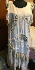 Genuine Magnolia Pearl Rare One Of A Kind French Linen W/ Specialty Pieces Dress