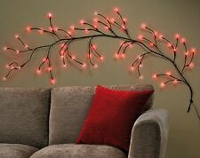 Red 64 LED Wall Branch Light Chabby Chic Home Decor Lighting Brand New