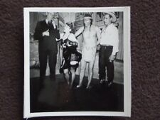 SALOON GIRL, COWBOY, INDIAN & MAN IN A SUIT Vintage 1941 COSTUME PHOTO