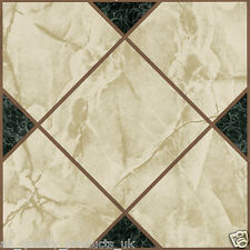 28 x Vinyl Floor Tiles - Self Adhesive - Bathroom Kitchen - Victorian Marble 193