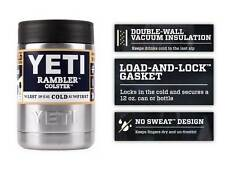 YETI Colster Rambler Cooler 12 oz Beer Insulator Stainless Steel Can Koozie 12oz