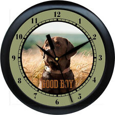 Personalized Chocolate Labrador Wall Clock Water Color Print Pet Gift