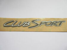 HSV VS CLUBSPORT S1 BOOT LID 'CLUBSPORT' BADGE DECAL SILVER & GREY GENUINE HSV