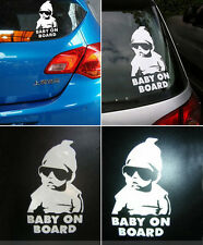 Funny Cool Baby on Board Vinyl Car Sticker Decal Warning Safety Sign Window